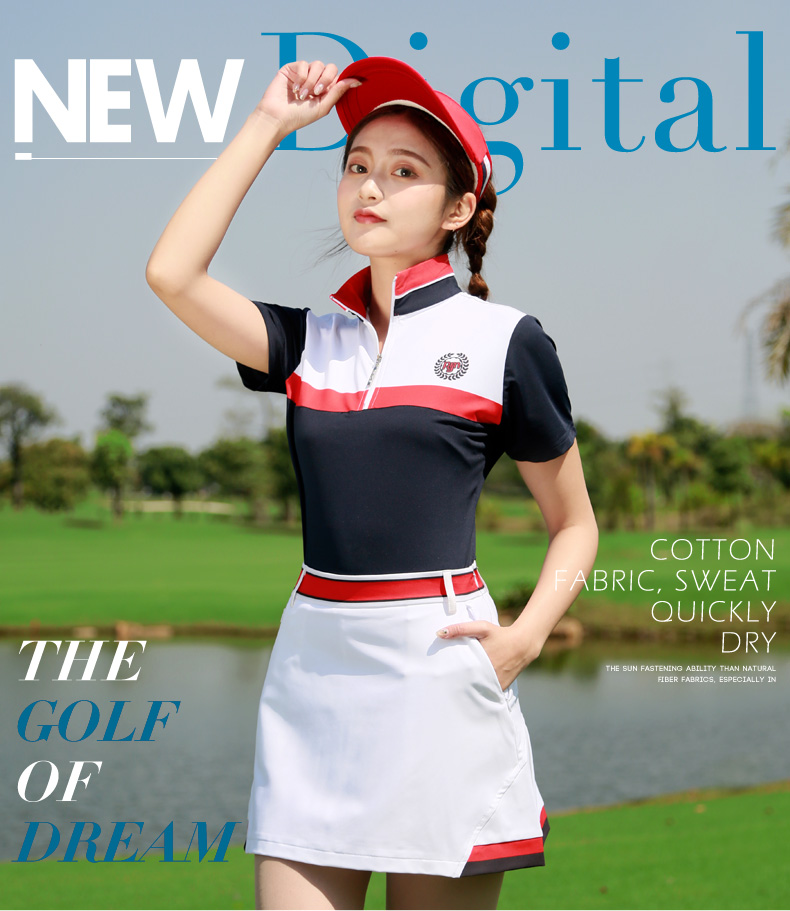 hot sale pgm women golf skirt girl's golf clothing solid