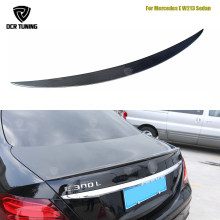 AMG Style spoiler For Mercedes W213 spoiler E Class 4-Door Sedan E200 E220 E250 E300 Carbon Fiber Rear Trunk Spoiler Wing 2016+(China)