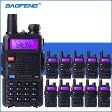 10 cái/lốc Baofeng UV 5R VHF UHF Walkie Talkie UV5R Cầm Tay Hai Chiều Ham Đài Phát Thanh UV 5R Xách Tay Phim Nói Chuyện Walkie Đài Phát Thanh thu phát