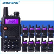 10 pçs/lote baofeng UV 5R vhf uhf walkie talkie uv5r handheld rádio em dois sentidos presunto uv 5r portátil walkie talkies rádio transceptor