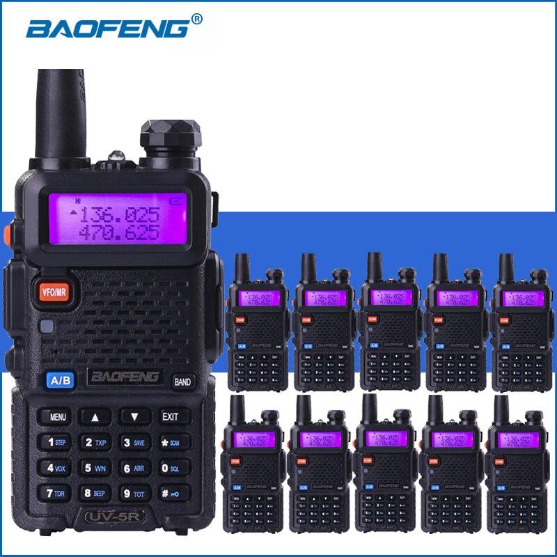 10 pcs/lot Baofeng UV-5R VHF UHF Talkie Walkie UV5R De Poche Deux Way Ham Radio UV 5R Portable Talkie Walkie Radio émetteur-récepteur