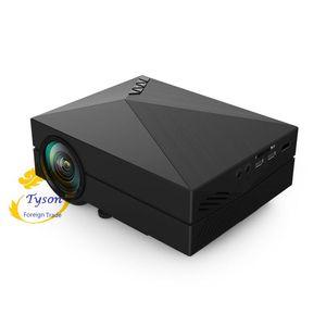 Image 5 - GM60 ręczny mini projektor LCD język 800x480 MAX 1920x1080/wsparcie HDMI/wielopłytkowe powlekane soczewki 1000 lumenów