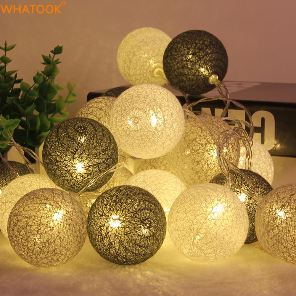 3M Christmas Lights Outdoor Indoor Led Lamp Cotton Ball String Lights Battery Party Wedding Home Decoration Christmas Decor 2018 hanging paper fan decoration wedding birthday christmas decor party events decor home decor supplies flavor