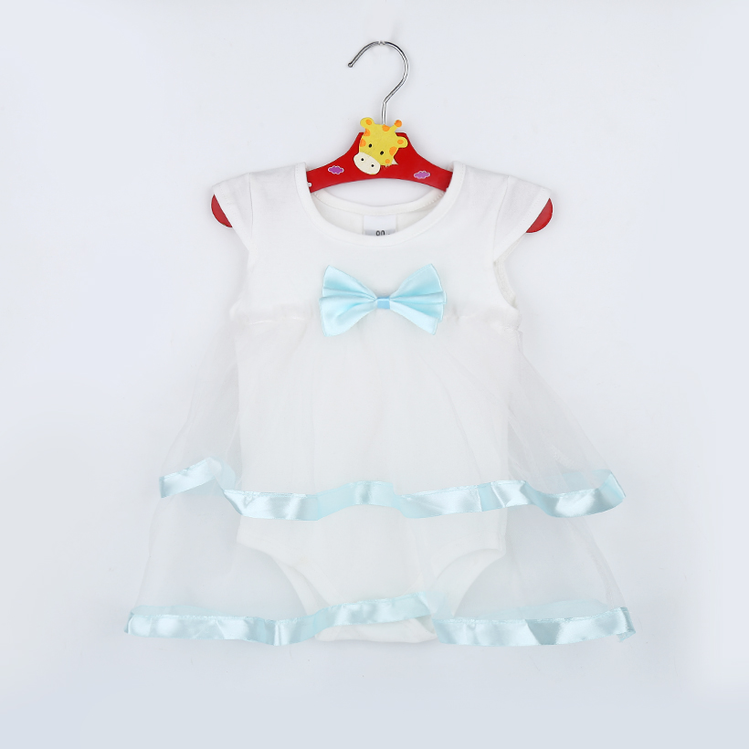 TANGUOANT Hot Sale NewBorn Baby Dress Summer Cotton Bow