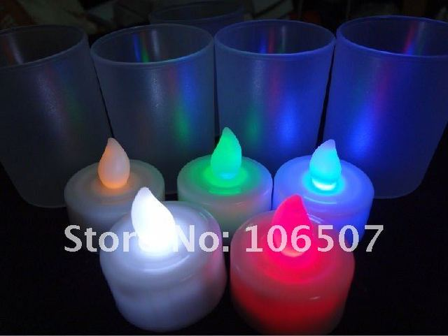 24PCS  Changing Color LED Candle Lamp Party Decor