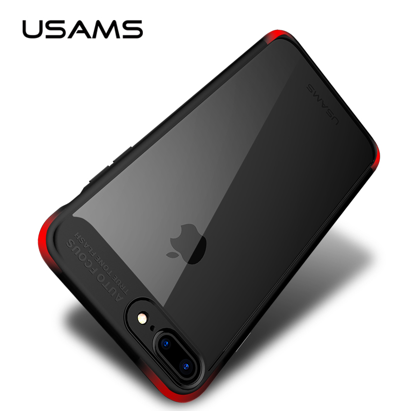 new arrival 98042 6fb99 US $7.89 |USAMS Case For iPhone 7 7Plus Full Cover Protective TPU+Acrylic  Anti Knock Ultra Slim for 4.7inch 5.5inch Original Fitted Case-in Fitted ...