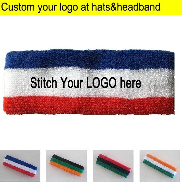 Adult Towel Headbands Sports Sweat Head wears terry knitted Headscarf Custom  LOGO Apparel Accessories Hood sweatband from 50pcs e1b8c6e72fb