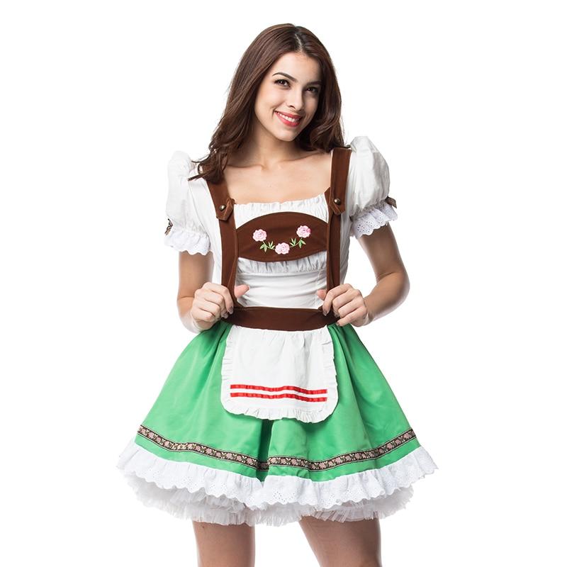 """Kambarinių tarnybų pagunda alaus mergaitė """"Oktoberfest"""" kostiumas Vokiečių """"Wench Fancy Cosplay"""""""