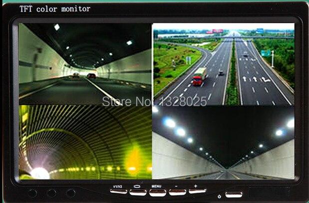 Super HD DC9V 36V 7 Inch 4 Split Quad LCD Screen Display Color Rear View Car