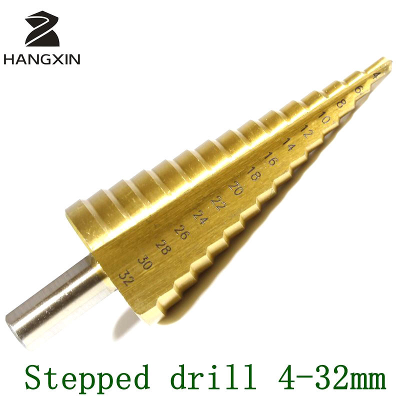 Cono Hss in titanio da 4-32 mm, kit di perforazione multifunzionale, - Punta da trapano - Fotografia 2