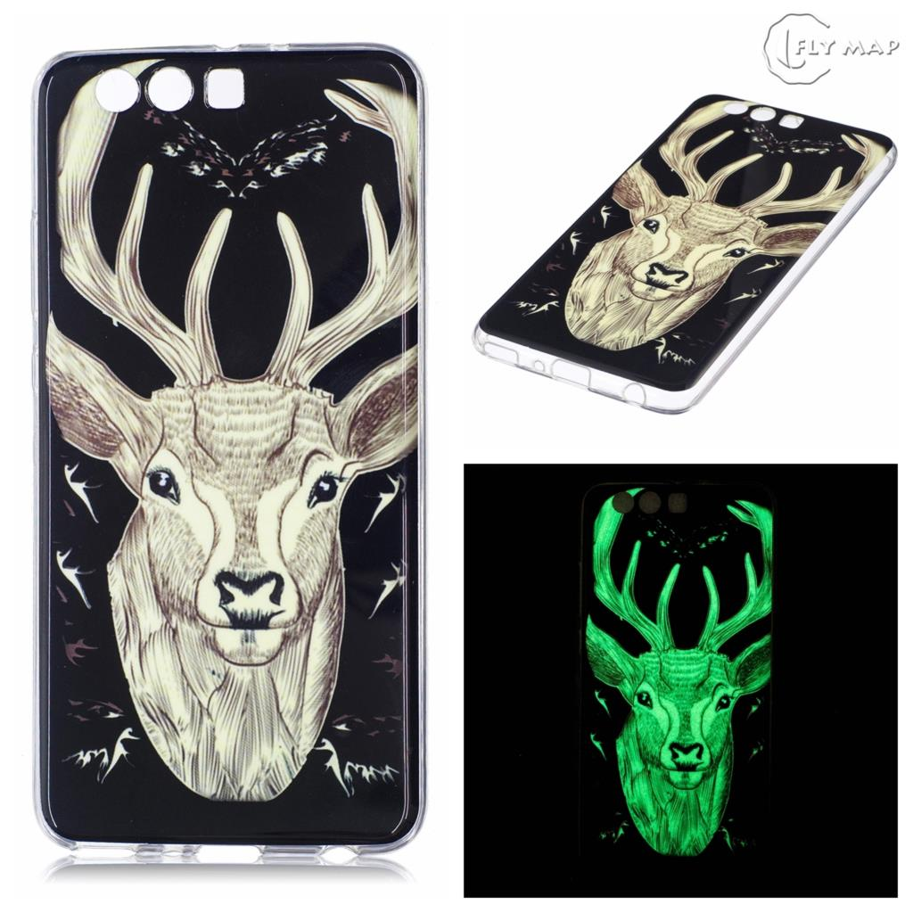 Luminous Case for Huawei P10 Plus VKY-L29 VKY-L09 Soft Silicone Floral Protect Cover for Huawei P 10 Plus P10Plus VKY-AL00 case