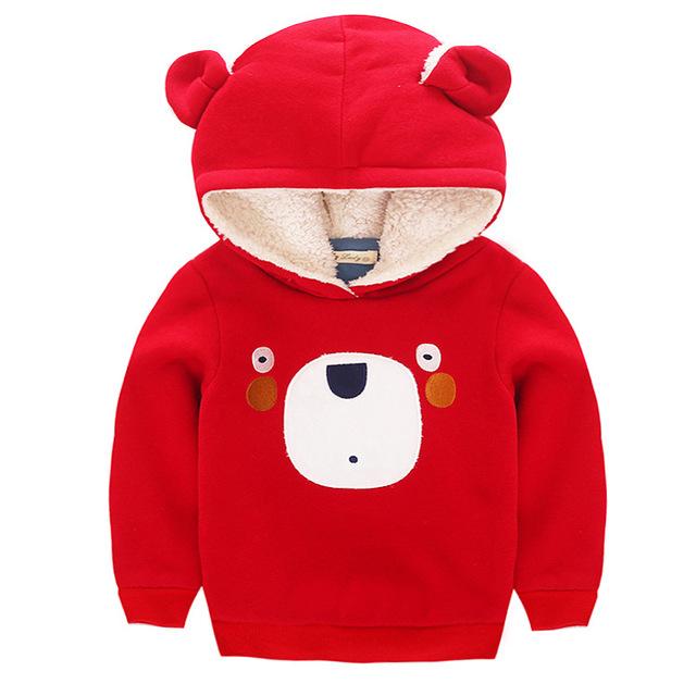 2017 Outono Inverno Crianças Hoodies Meninos Da Menina do Algodão Camisola Bonito do Urso Dos Desenhos Animados Do Bebê Kid Roupas Pullovers Bobo Choses 3-7 T