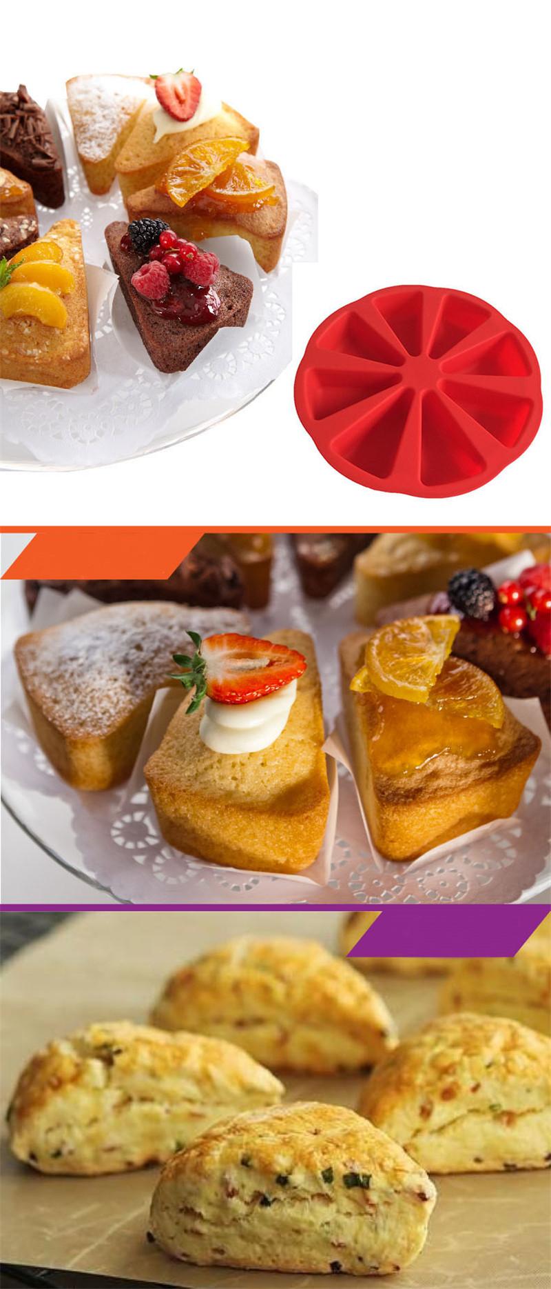 烤盘模具蛋糕盘硅胶蛋糕模布丁三角蛋糕模松饼烘焙工具软糖蛋糕模5