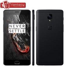 """Оригинальный oneplus 3 т 3 Т 6 ГБ 64 ГБ Snapdragon 821 4 ядра отпечатков пальцев ID FDD LTE 4 г 5.5 """"1920×1080 P Android 6.0 NFC мобильный телефон"""
