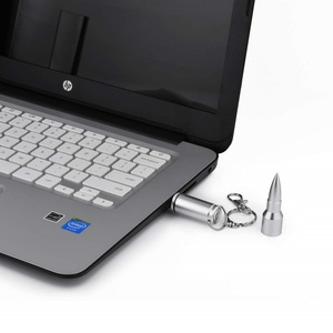 Image 5 - Metallo 16GB 32GB Pendrive Creativo Proiettile USB Flash Drive 64gb Pen Drive Memory Stick Per Il Computer Portatile Desktop PC