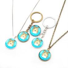Fashion shetland sheepdog Keyring Dog Keychians Car Key Chain Gold Fill Charm Pet Lover Gift For Friends Jewelry Women Bag