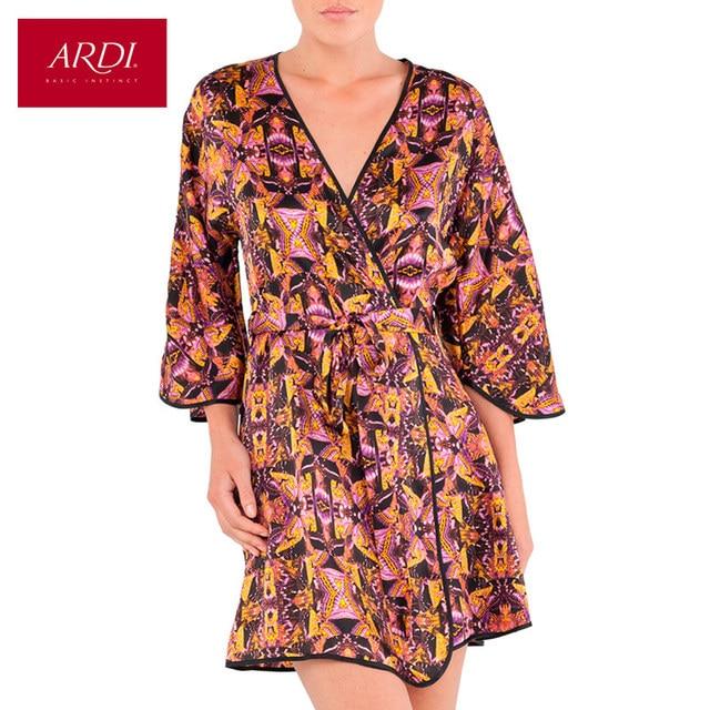 Home Robe Female Silk Woman Lingerie Bathrobe S M L XL 38 40 42 44 Free Delivery ARDI R1254-48