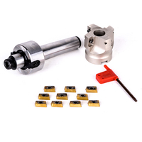 1pc 400R 50 22 4 Flute Face End Mill + 10pcs APMT1604 Carbide Inserts Durable CNC Lathe Turning Tool
