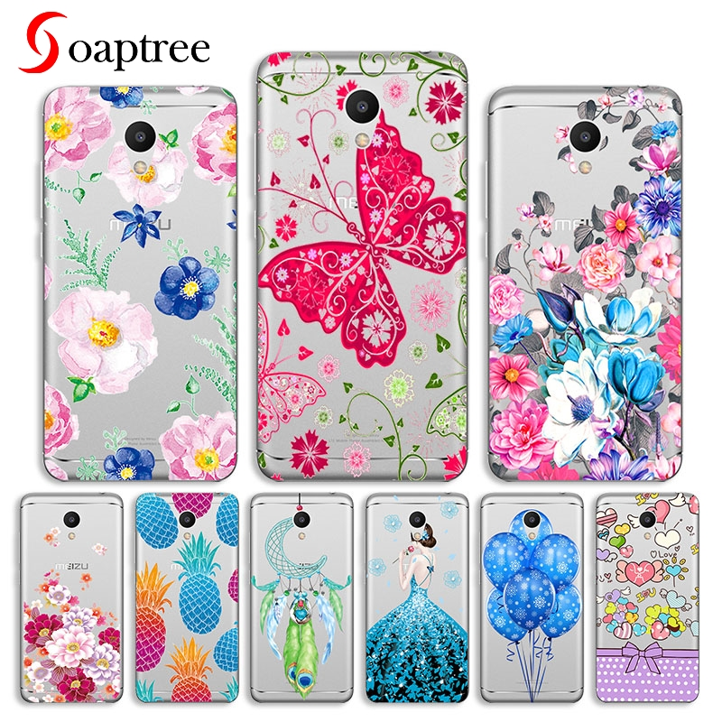 Cute <font><b>Case</b></font> For <font><b>Meizu</b></font> M15 15 Lite 15 Plus <font><b>Case</b></font> For <font><b>Meizu</b></font> M6 note M6s <font><b>M6T</b></font> E3 Cover Transparent Painted Silicone Soft <font><b>TPU</b></font> <font><b>Cases</b></font> Etui image