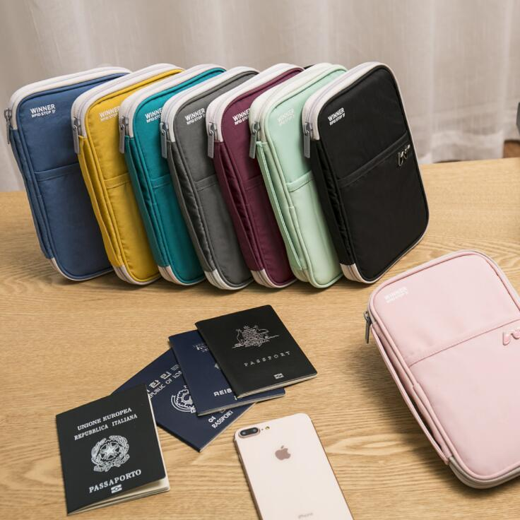 RFID Anti-theft Waterproof Portable A5 File Folder Document Storage Bag Travel Passport Bank Cards Organizer Handbag Stationery