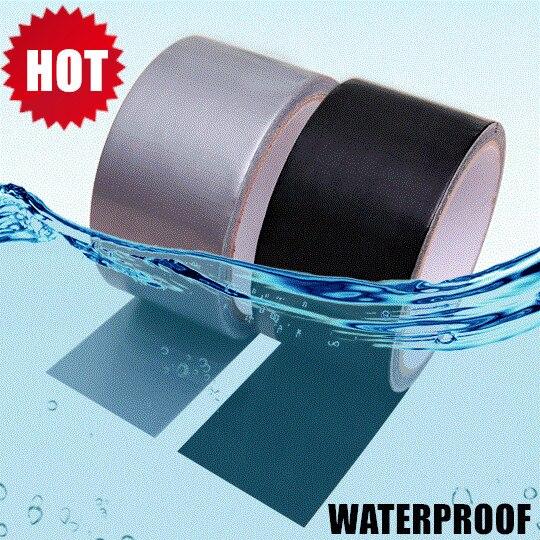 50% OFF 3 Farbe 3 Größen Flex Starke Gummierte Wasserdicht Klebeband Super Starke Pro Formel Schwarz Weiß Klar