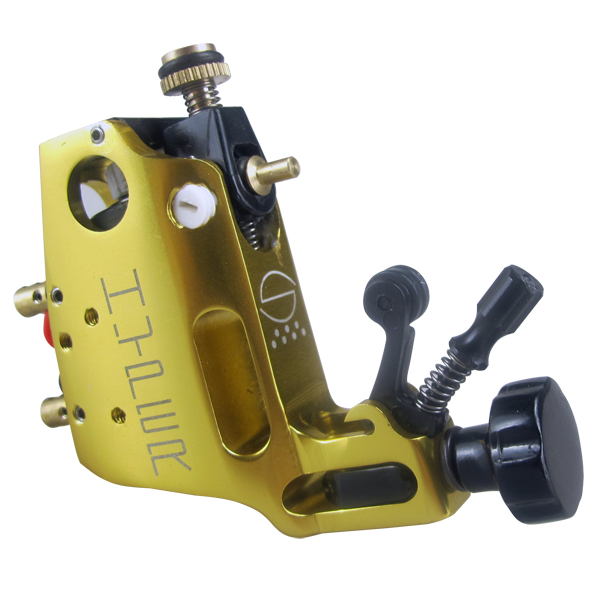 Digital Beginner Rotary tattoo machine yellow color permanent makeup eyebrow tattoo pen permanent makeup rotary tattoo machine tattoo gun for learner use
