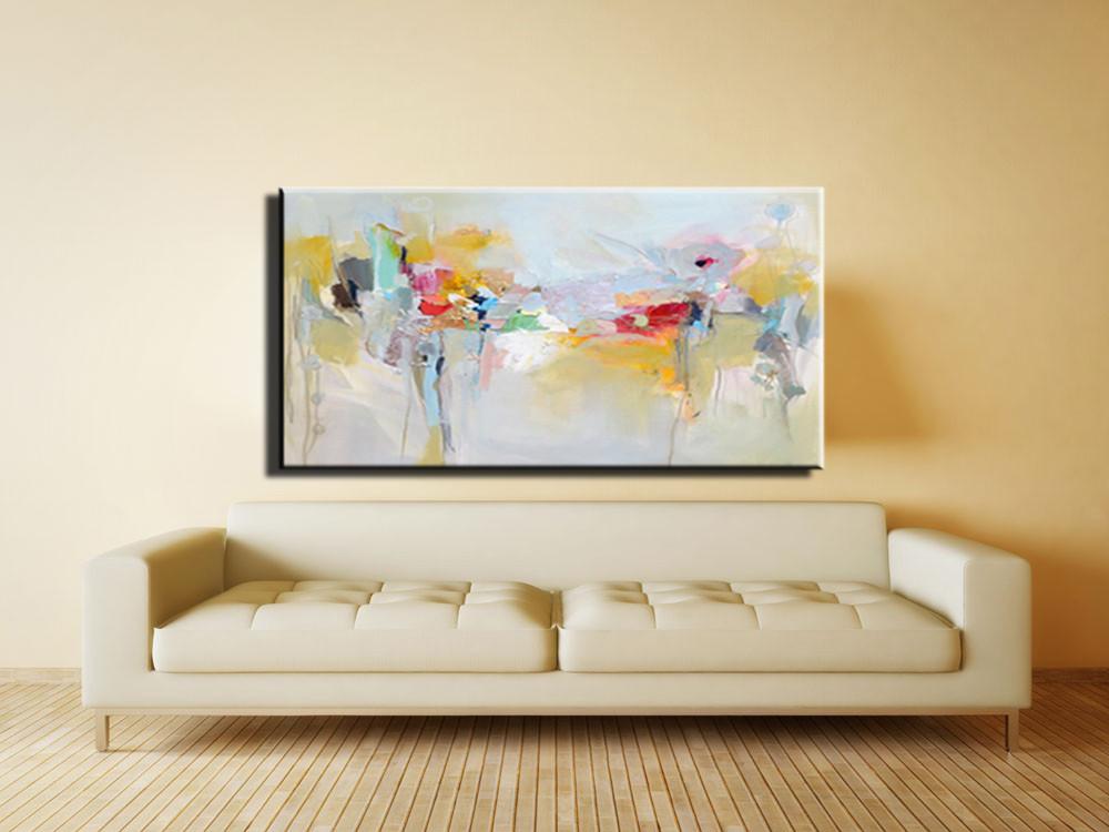 Große leinwand wandkunst acryl malerei moderne gemälde wandmalerei ...
