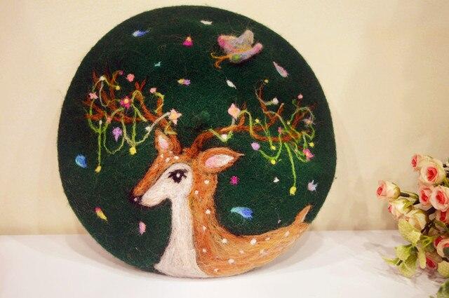 Принцесса сладкий лолита шляпа на заказ для 5-10days департамент лесного хозяйства лося цветы героев мультфильмов руководство шерсть берет MZ17