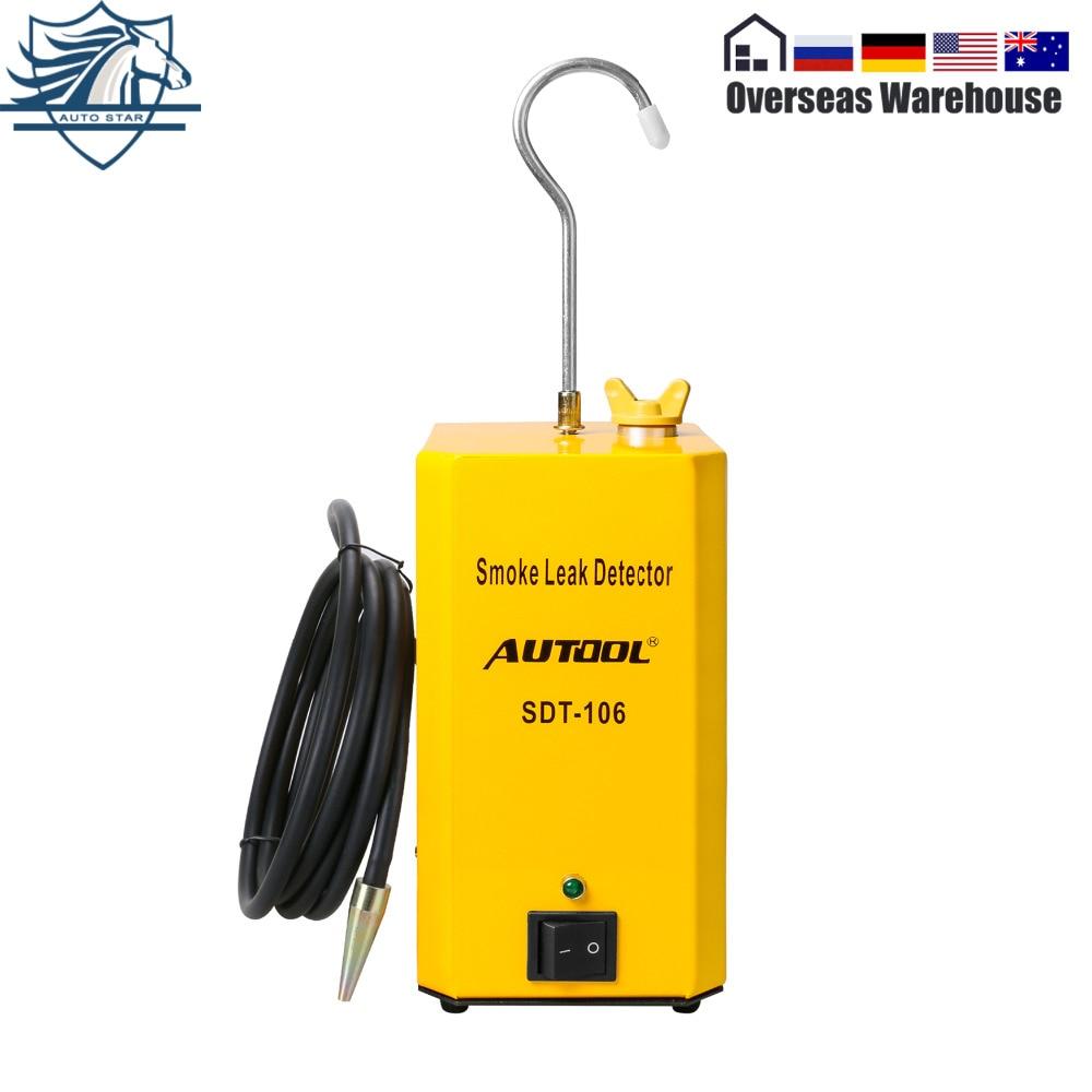 AUTOOL SDT106 EVAP Automotive Rauch Leck Detektor Rauch Test Manchine Auto Rohr Leckage Tester Universal Für Motorrad/Auto/ lkw