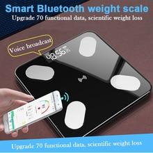 «Лучшее» Bluetooth Смарт Электронные весы цифровой дисплей usb зарядка тела жира весы 889
