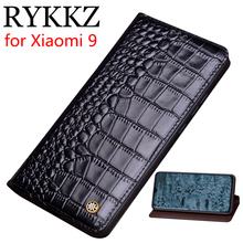 RYKKZ Genuine Leather Flip Case For Xiami 9 Cover Magnetic case Xiaomi SE Cases Phone Fundas