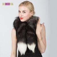 冬100%本物のリアルナチュラルフォックス毛皮の襟女