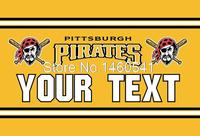 Pittsburgh Pirates Custom Your Text Flag 3ft X 5ft Polyester MLB Team Banner Flying Size No