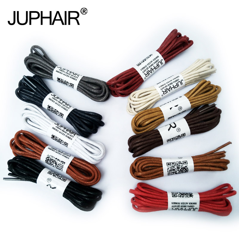 JUP 8 Pair 60-180cm Fashion Casual Leather Laces High Quality Waxed Round Shoelaces Shoestring Boots Sports Shoes Cable Ropes jup 50 pairs round laces 60 180cm casual leather high quality waxed shoelaces boot sport cable rope oxford sneaker unisex string