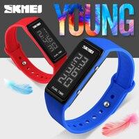 Esportes da forma Da Marca SKMEI 1277 LED Unisex Digital Relógio de Pulso À Prova D' Água Multifunções Relógios para Mulheres Dos Homens Relógios Eletrônicos