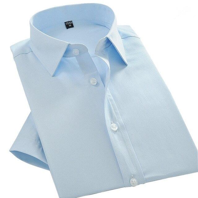 Verano de Los Nuevos Hombres de Negocios Camisa de Manga Corta Camisa Blanca