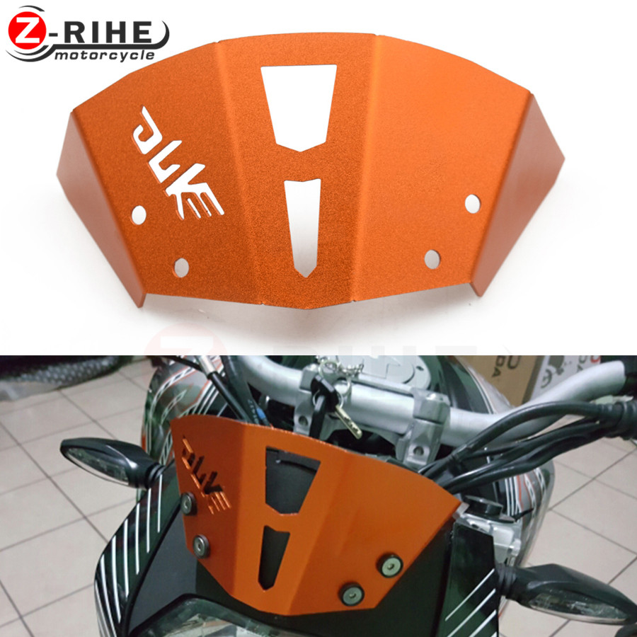 Motorcycle Aluminum Motorbike Windshield Windscreen Orange CNC For KTM Duke 125 200 390