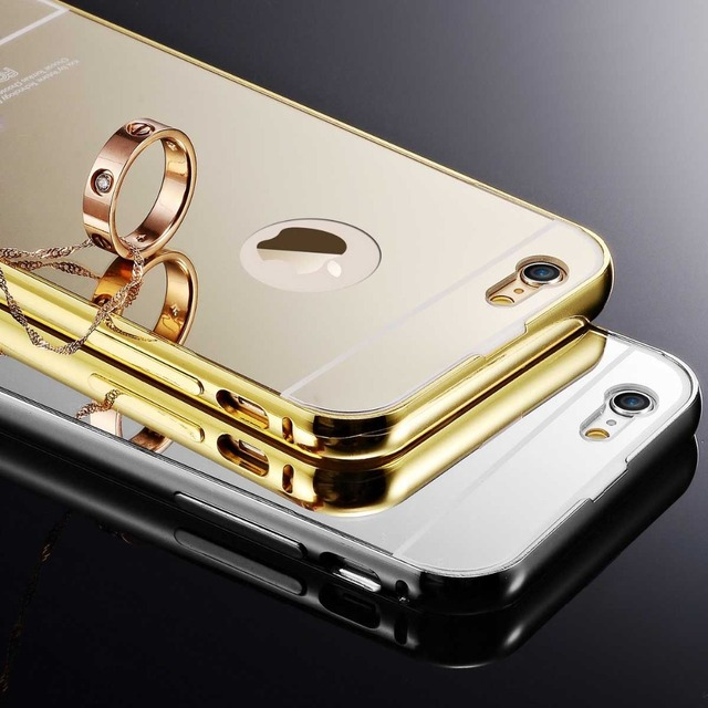 Ultra Thin Plating Aluminum Case For iPhone 5 5S 5G SE Brushed Mirror 2 Style Back Cover Coque For iPhone5 S Tapa Trasera Luxury