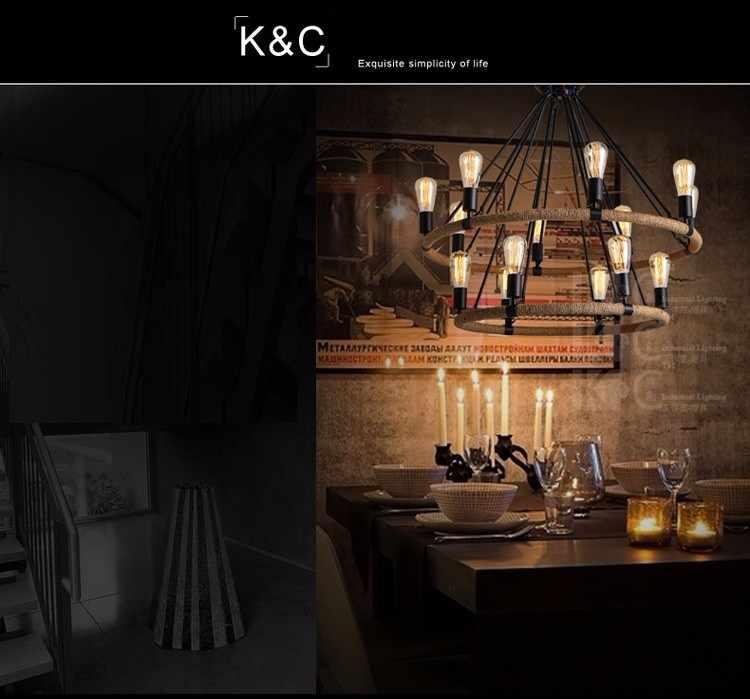 Винтажная люстра подвесной светильник Ретро Лофт подвесной светильник для фойе отеля гостиной украшение светильник