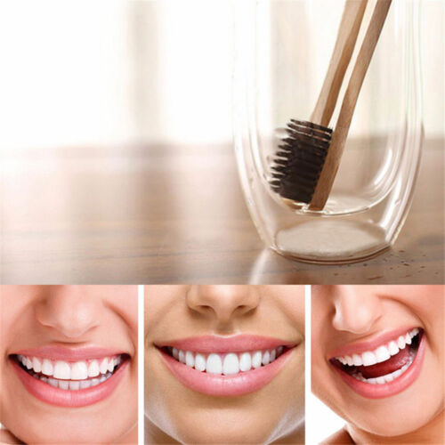 Environmental Toothbrush Bamboo Oral Care Teeth Brushes Eco Soft Medium Family image