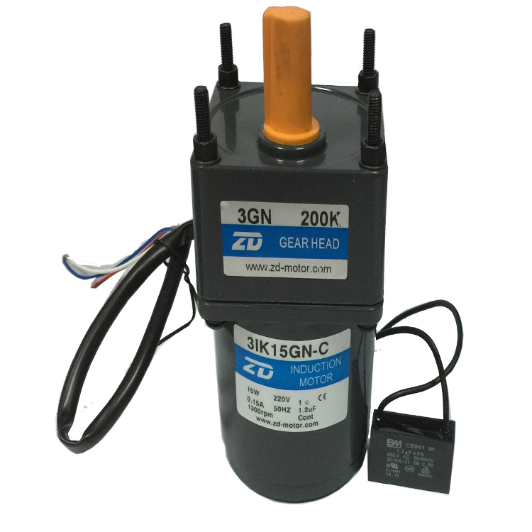 70mm 15W motor model 3IK15GN-C / 3GN200K -reduction 1: 200 synchronous speed 6.75 <font><b>rpm</b></font> image