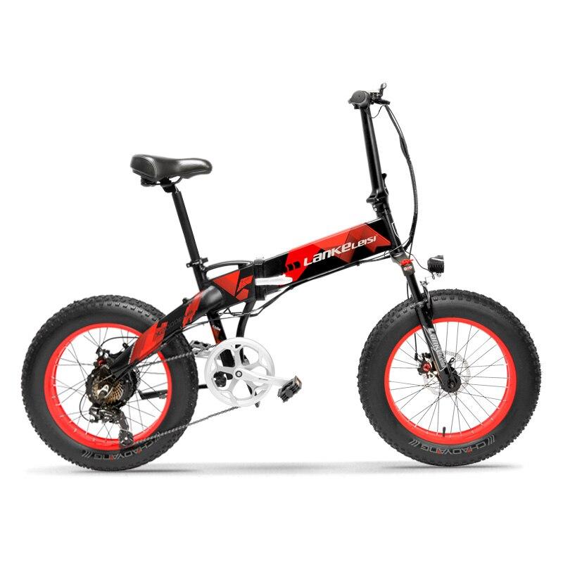 20 pouces gros e-bike neige vélo électrique 48V500W pli électrique VTT batterie au lithium cachée gamme 50-100 km hybride