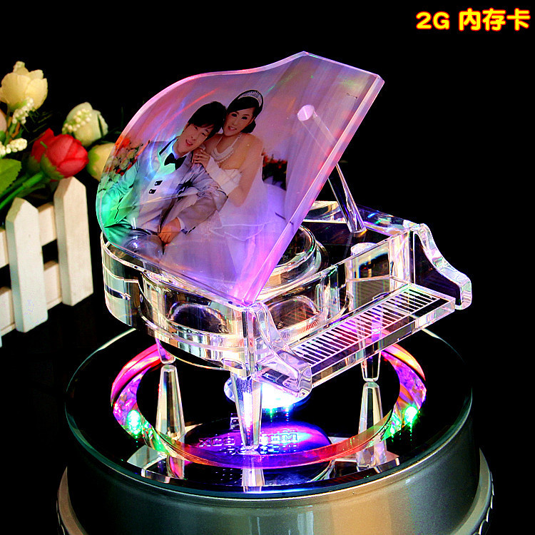 Crystal Piano Mp34 Music Box Music Box Birthday Gift Diy Gift Girls In Music Boxes From Home