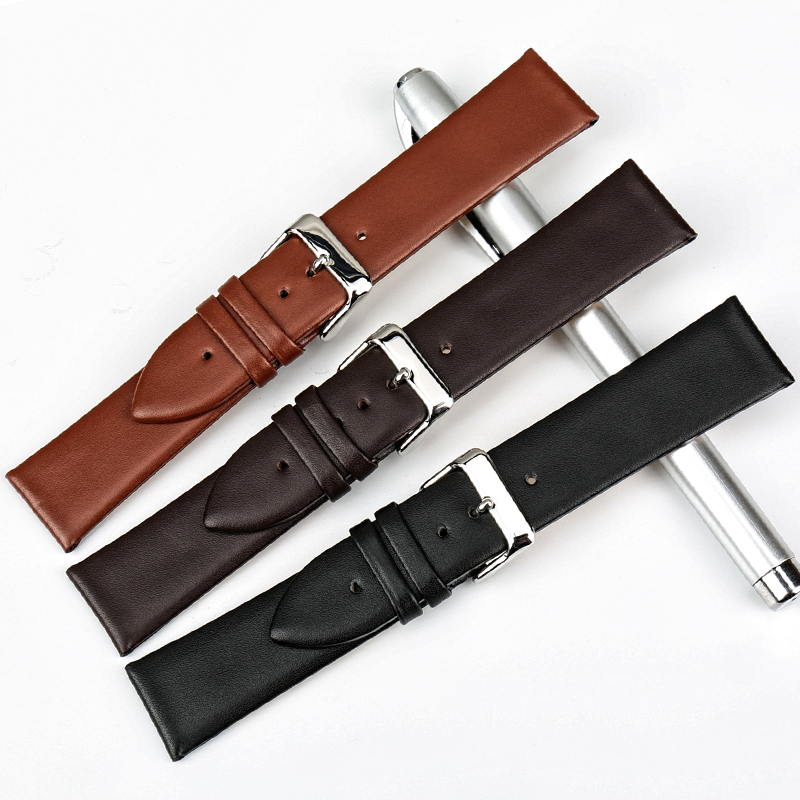MAIKES Watch Accessories 12mm 24mm Genuine Leather Watch band For DW Daniel Wellington Watch Strap Fashion Pink Watchbands in Watchbands from Watches