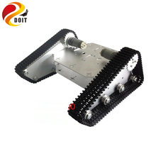 TK-100 Tracked Vehicle / Tank Chassis / Triangle Tracked Mobile Platform Caterpillar Wali Car Tank Robot DIY Toy DOIT(China)