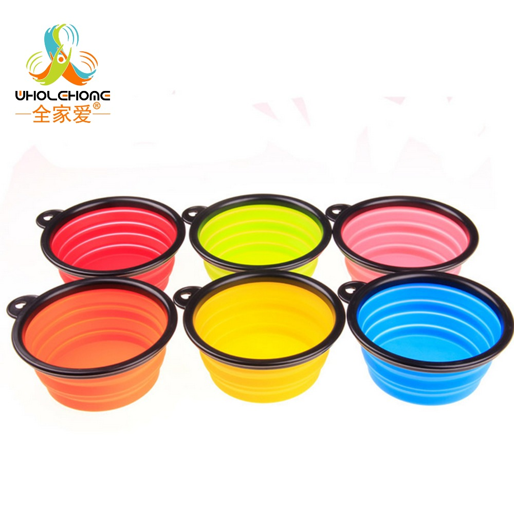 Pet Folding Portable Dog Cat  Bowls Pet Products Silicone Bowl  Wholesale For Food The Dog Drinking Water Bowl Pet Bowls #1