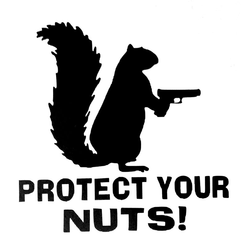 12 9cm 12 7cm Protect Your Nuts Squirrel Police Army Navy