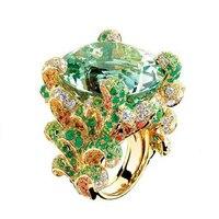 Anillos Qi Xuan_Jewelry_Luxury женская брендовая Rings_New модные коктейльные кольца _ S925 чистого серебра Rings_Factory прямые продажи