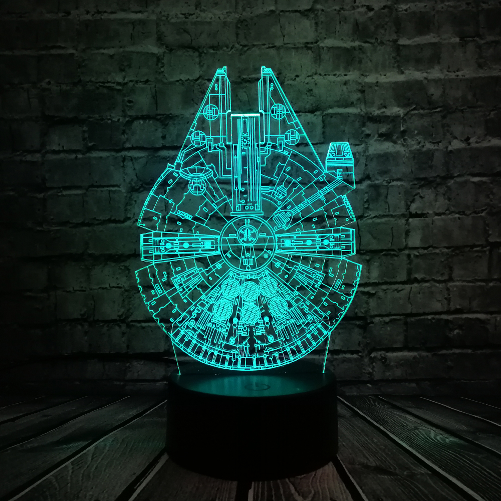 Star Wars UFO BB8 R2D2 3D LED Lámpara Cool Boy Dormitorio Luz de - Luces nocturnas - foto 4