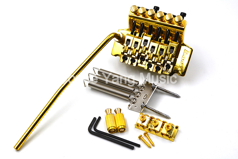 Chrome/Black/Gold IB Floyd Rose Lic Electric Guitar Tremolo Bridge Double Locking Assembly System Free Shipping Wholesales new gold floyd rose lic electric guitar tremolo bridge double locking system free shipping wholesales